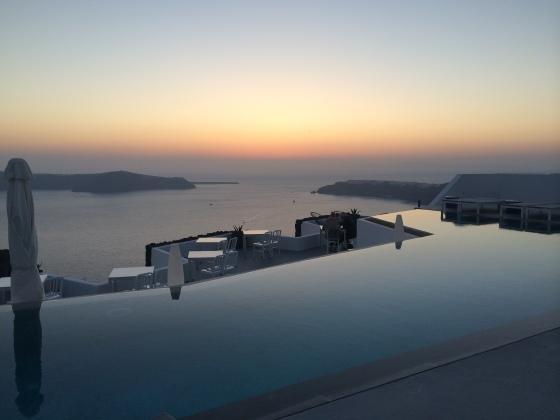 Grace Santorni beautiful sunset