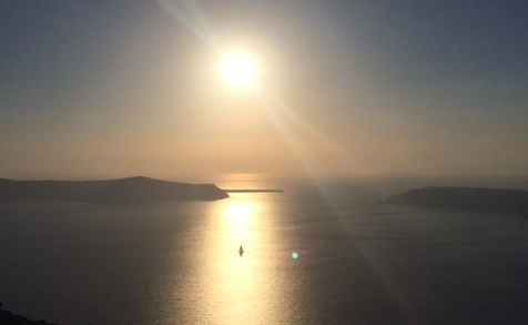 Santorini sunset grace hotel